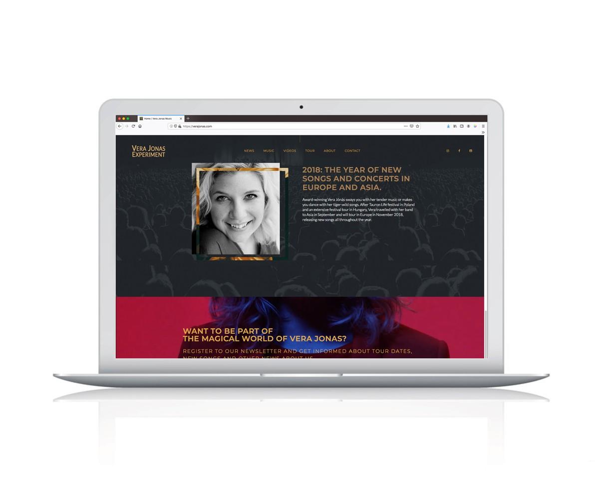 Webdesign für Sängerin Vera Jonas
