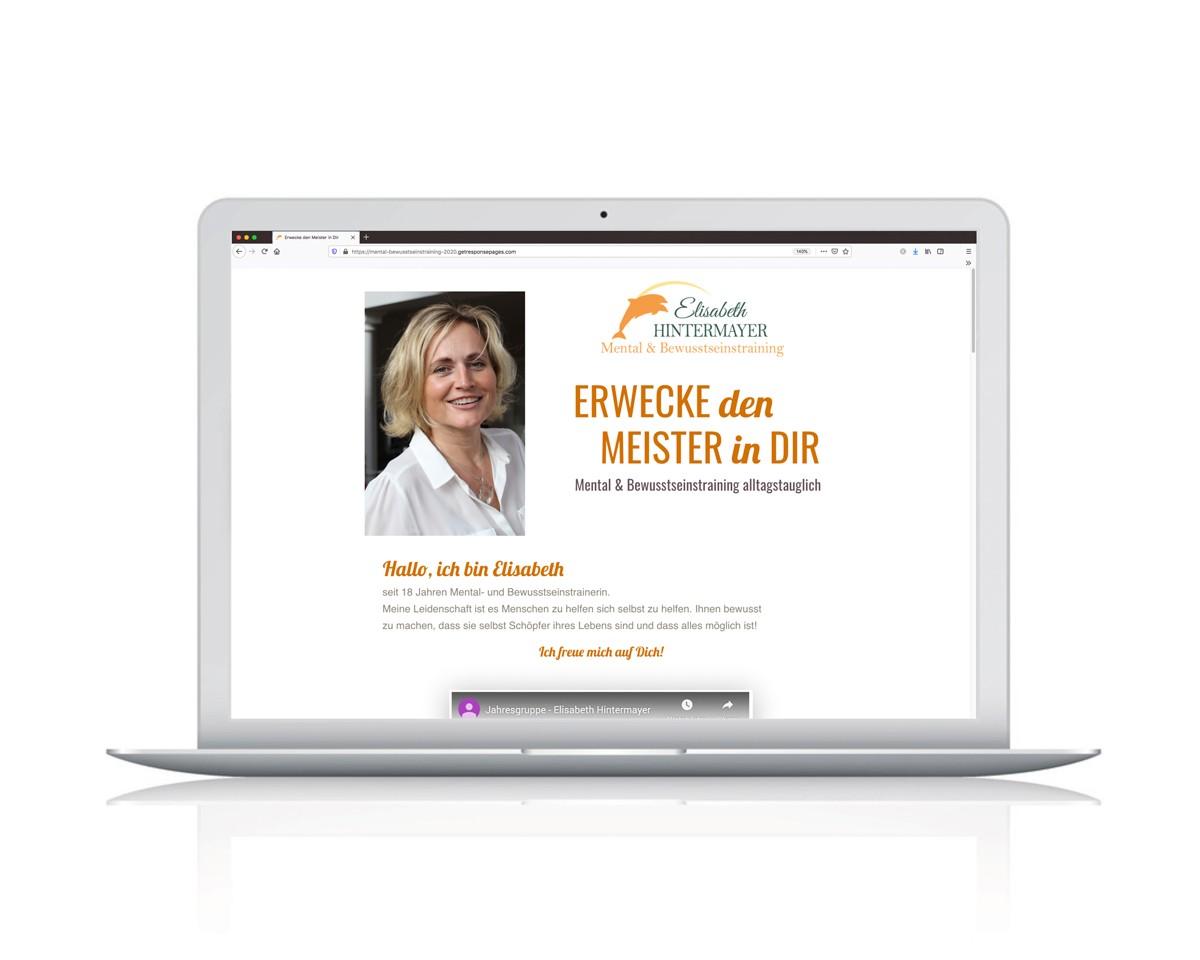Landing Page von Elisabeth Hintermayer - Menatltrainerin