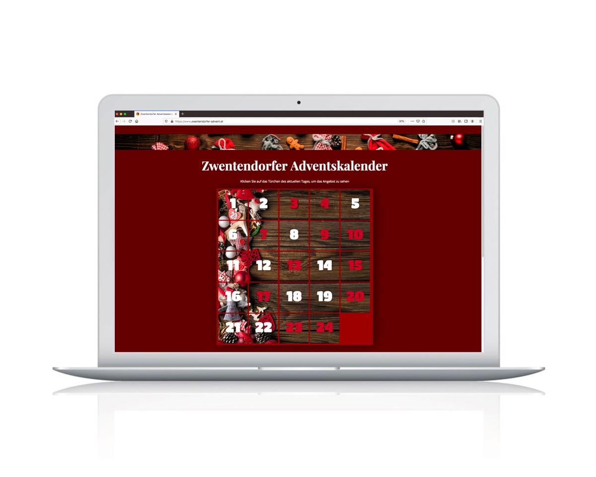 Webdesign und Entwicklung von dem Online Adventkalender fßr die Zwentendorfer Marktgemeinde